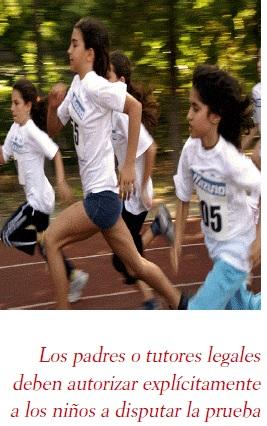 carrera atlética infantil
