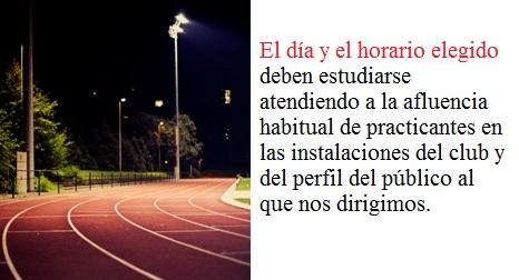 pista atletismo curva noche artículos unisport