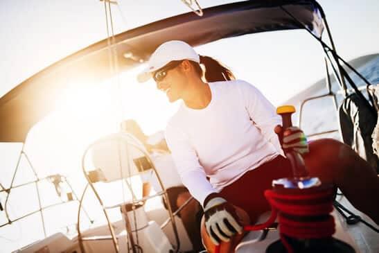 El deporte femenino de competición chica-nautica-unisport